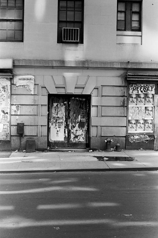 Roy Colmer photograph of door on 56th Street between 6th & 7th Avenue