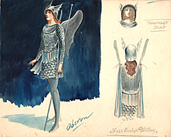 Percy Anderson's costume design for Herbert Beerbohm Tree's production of A Midsummer Night's Dream (1911) from the B. J. Simmons & Co. records, Harry Ransom Center.